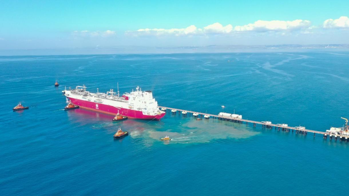 """U Tursku stigao prvi plutajući terminal za skladištenje i uplinjavanje plina """"Ertugrul Gazi"""""""