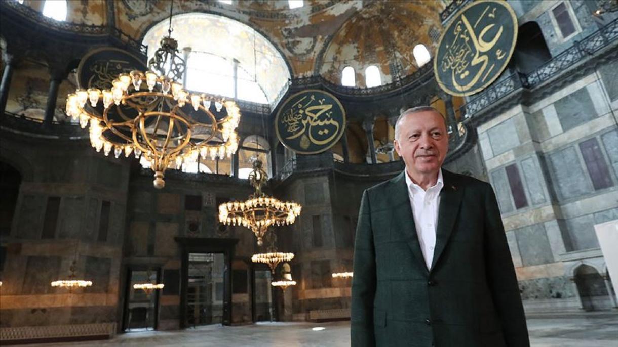 Erdogan: Aja Sofija... Uvijek si bila naša, a mi tvoji (VIDEO)