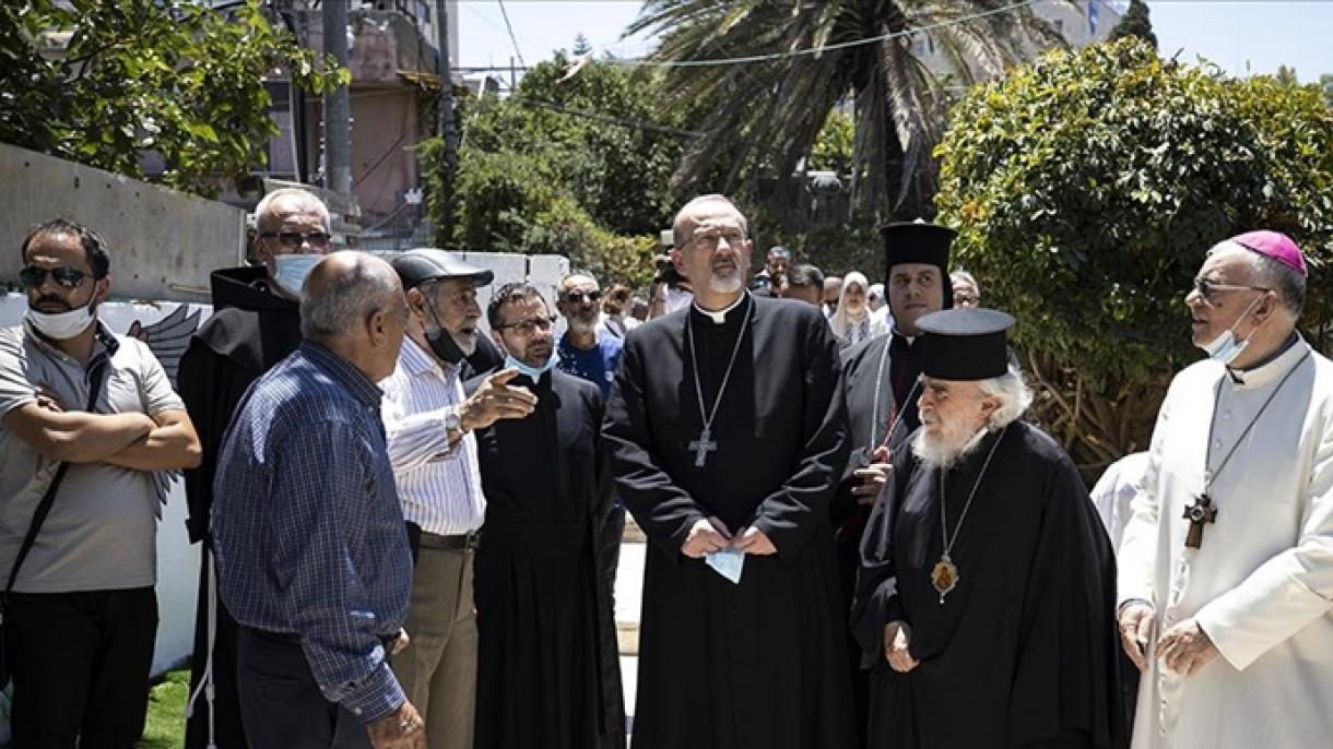 Posjeta podrške kršćanskog svećenstva Palestincima u Sheikh Jarrahu