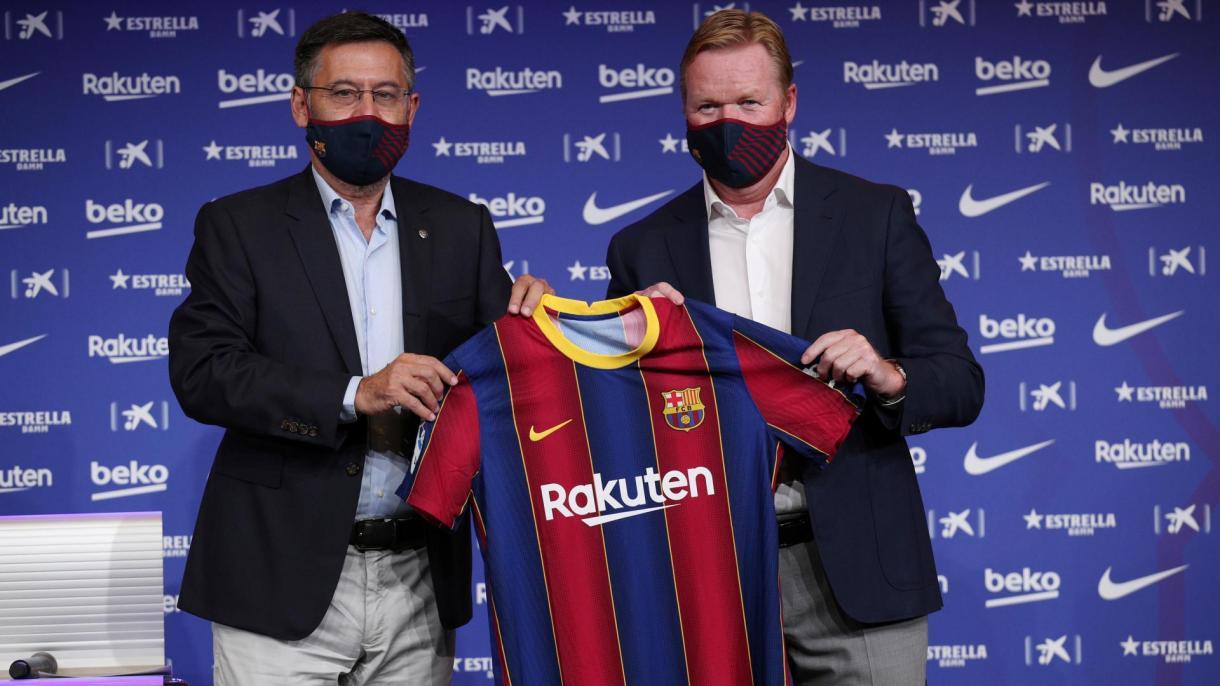 Barcelona oficializó la contratación del técnico holandés Ronald Koeman