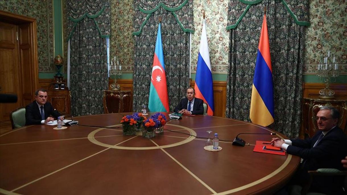 Lavrov se encontra com seus colegas do Azerbaijão e da Armênia em Moscou
